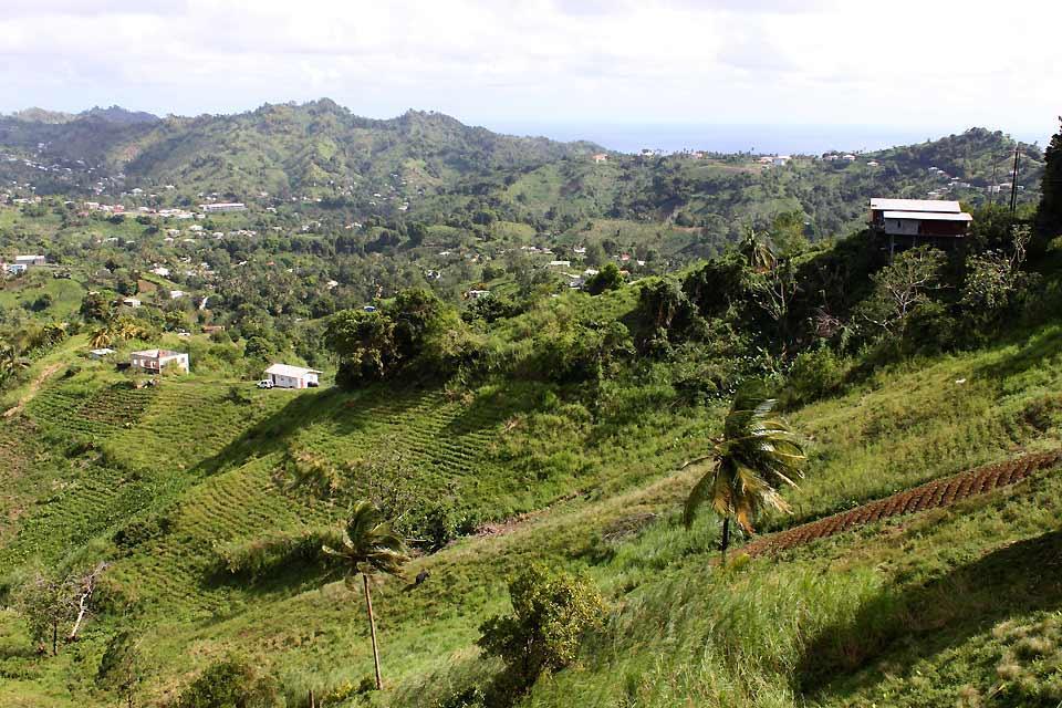 St. Vincent , Aussichtspunkt in Mesopotamia , St-Vincent und die Grenadinen