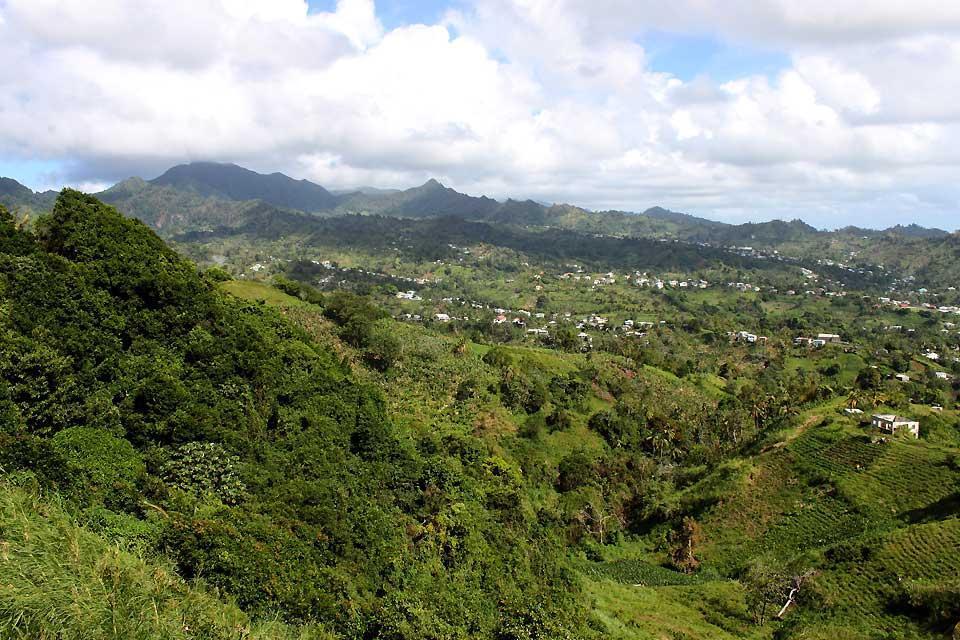 St. Vincent , Eine fruchtbare Vulkaninsel , St-Vincent und die Grenadinen