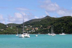 Canouan , Charlestown Bay in Canouan , Saint-Vincent and The Grenadines