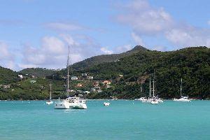 Canouan , Charlestown Bay en Canouan , San Vicente y las Granadinas