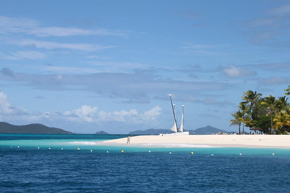 Palm Island , Strand von Palm Island , St-Vincent und die Grenadinen