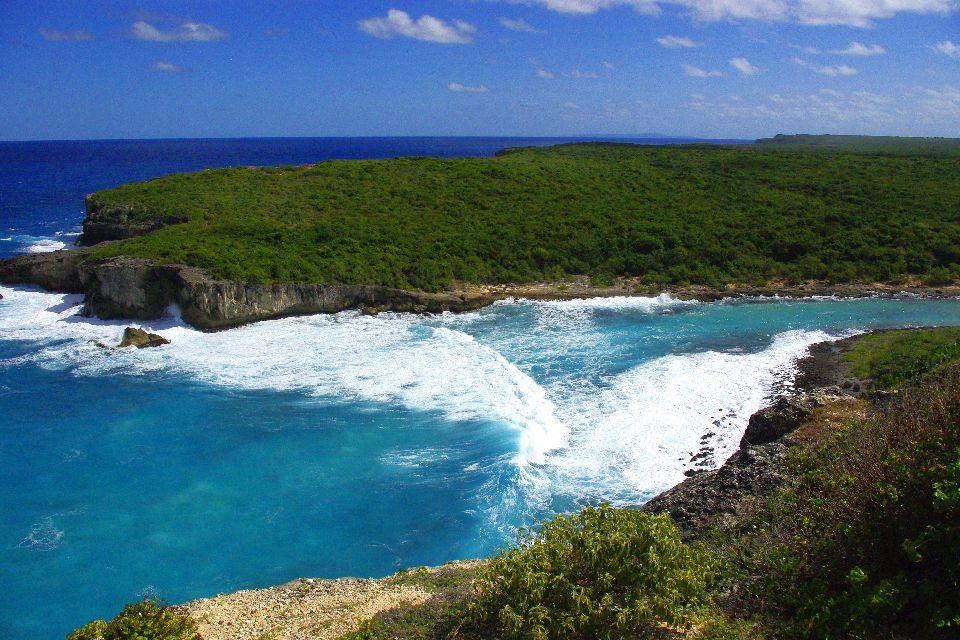 The Door of Hell , The craggy coastline of Porte de l'Enfer , The islands of Guadeloupe