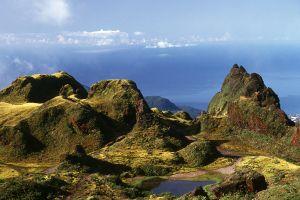 Les paysages, guadeloupe, volcan, antilles, caraïbes, soufrière, souffrière, île