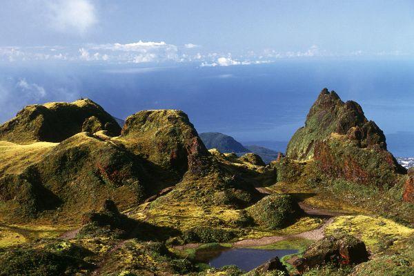 La Soufrière en Basse-Terre, La Soufrière, Los paisajes, Pointe à Pitre, Guadalupe