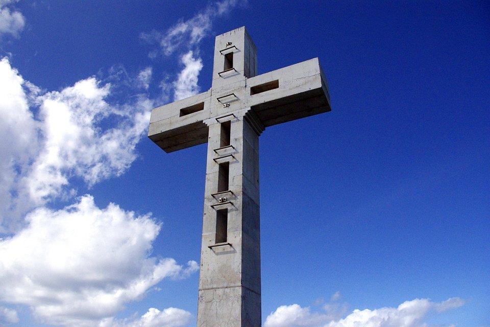 The cross at Pointe des Châteaux, The pointe de la Grande Vigie , Coasts, Pointe à Pitre, Guadelupe