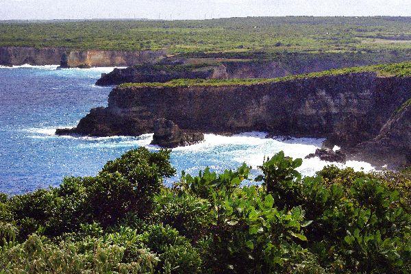 La playa de la Caravelle , La Pointe de la Grande Vigie , Las ilas de Guadelupe