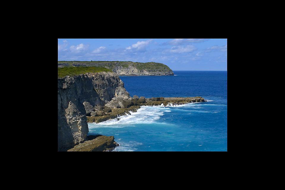 La punta della Grande Vigie (Grande Vedetta) , Scogliere della Punta della Grande Vigie , Guadalupa
