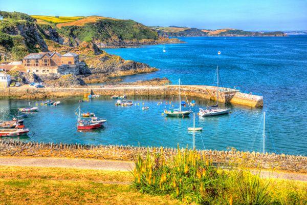Mevagissey in Cornovaglia, Regno Unito, Le coste della Cornovaglia, Le rive, Inghilterra