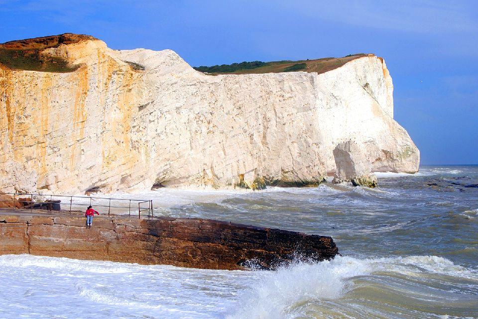 La costa dei Downs , Regno Unito