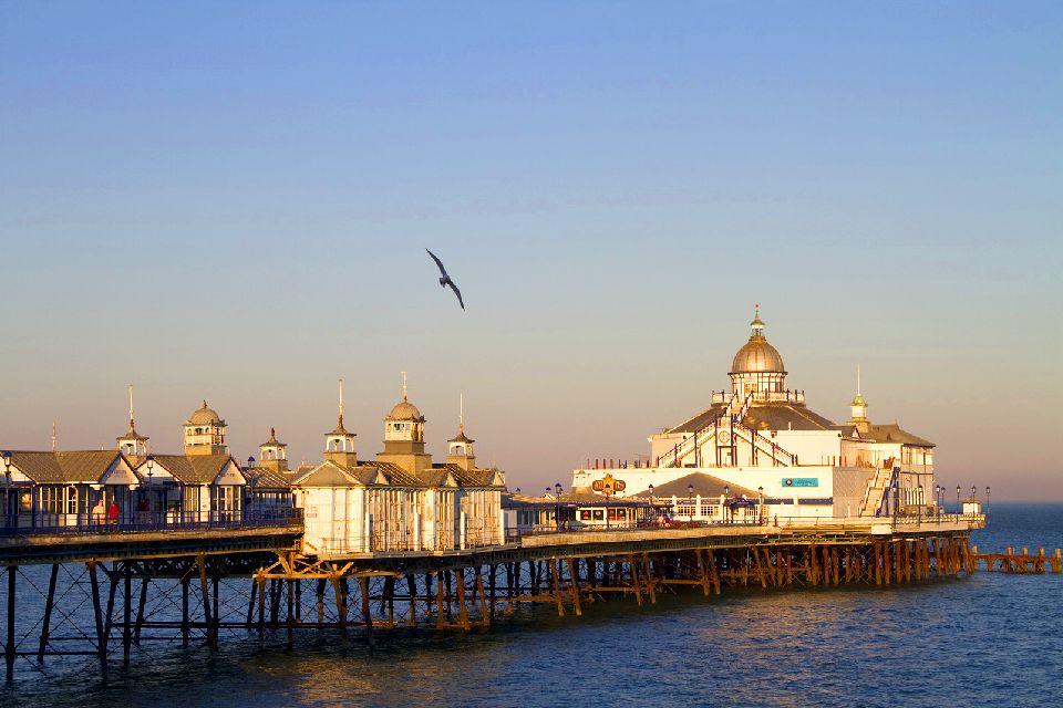 La costa dei Downs , Eastbourne , Regno Unito