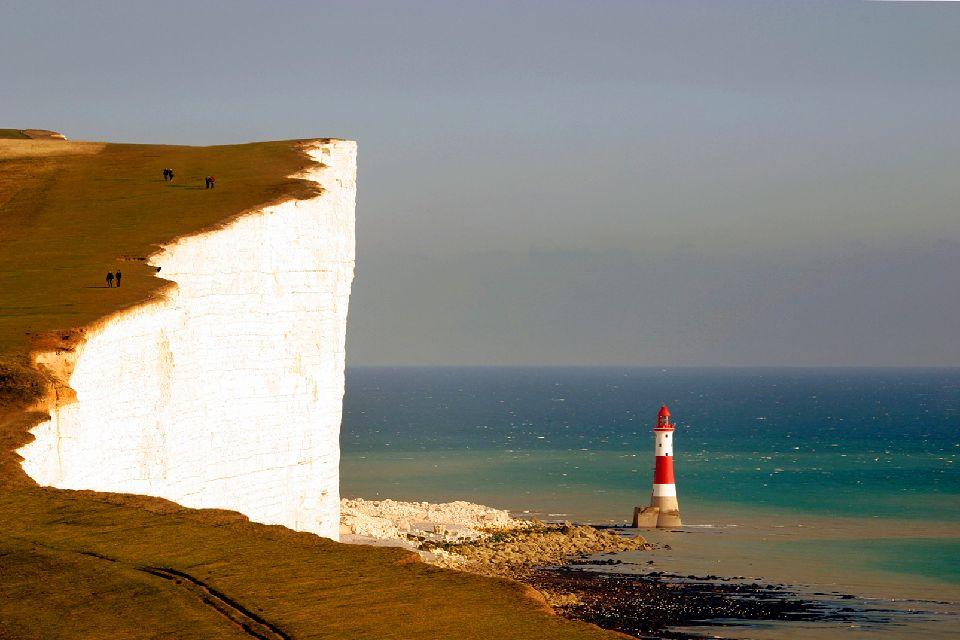 """La costa dei Downs , La scogliera di """"Beachy Head"""" , Regno Unito"""
