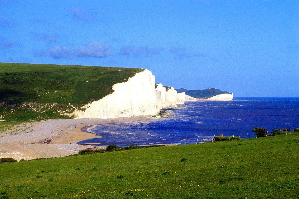 La costa dei Downs , I Downs in Inghilterra , Regno Unito