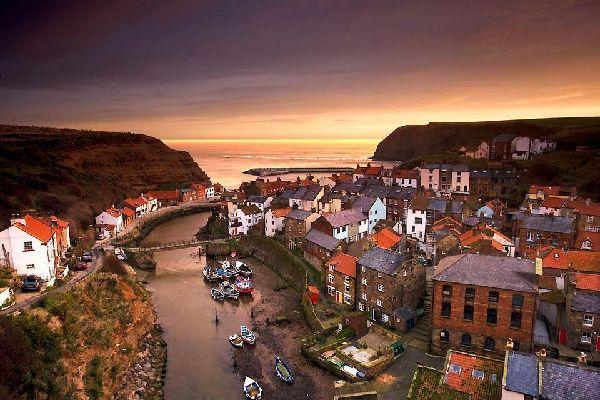 La costa de Yorkshire , La costa de Yorkshire en Inglaterra , Reino Unido