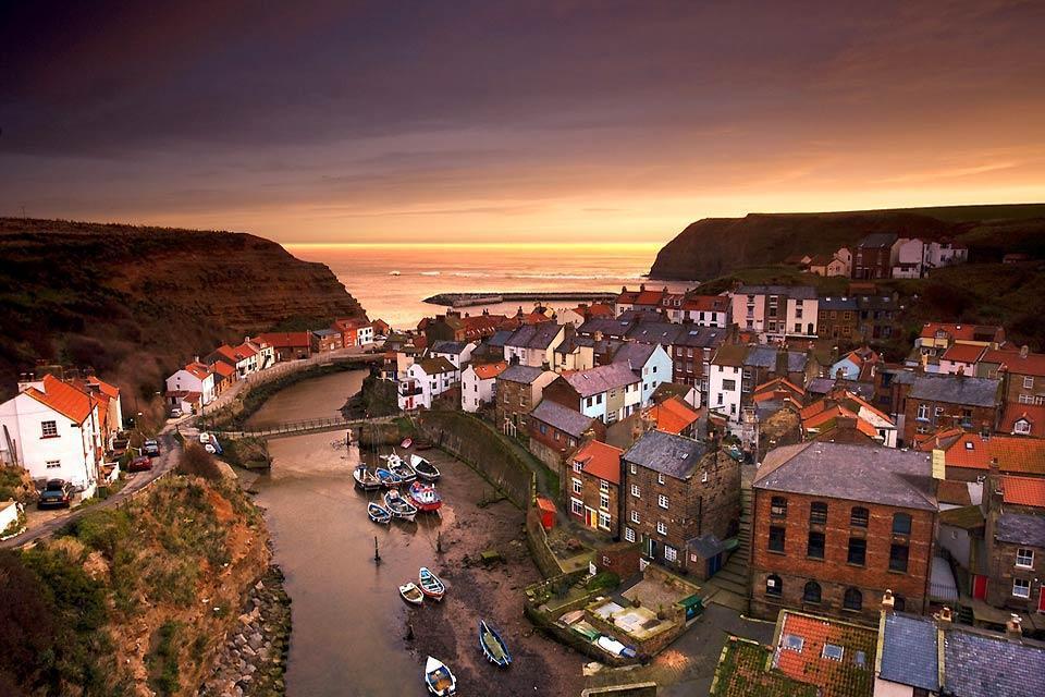 La costa dello Yorkshire , La costa dello Yorkshire in Inghilterra , Regno Unito