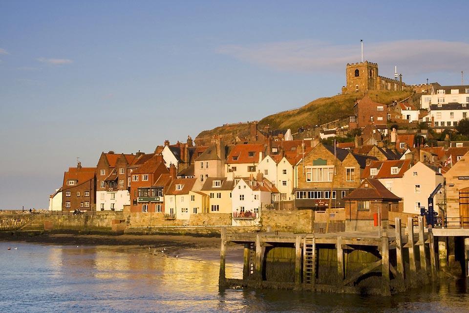 La costa dello Yorkshire , paesaggio urbano nello Yorkshire , Regno Unito