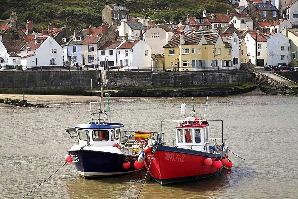 The Yorkshire coast , Fishing Boats, Staithes, North Yorkshire , United Kingdom