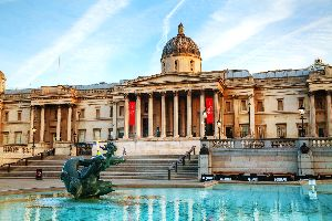 London museums , The National Gallery, Trafalgar Square , United Kingdom