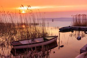 El lago Balaton, El lago Balatón, Los paisajes, Budapest, Hungría