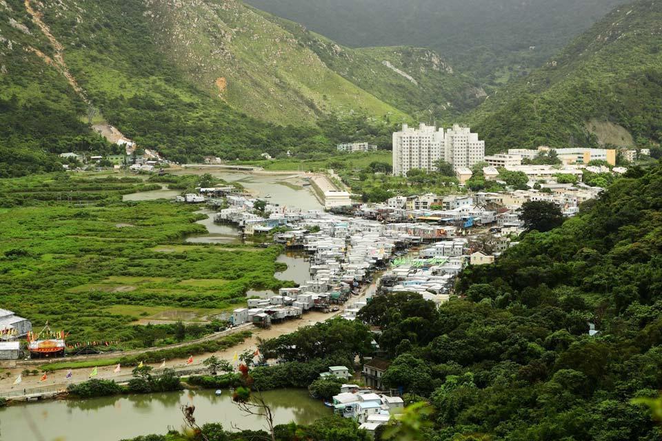 The green areas , Hong Kong