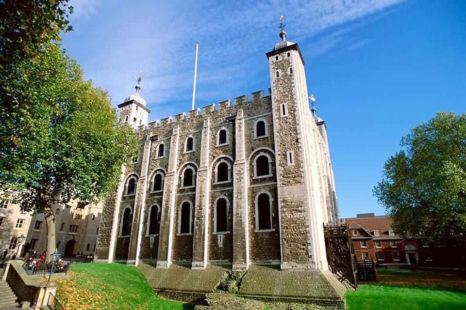 Der Tower von London , Umriss des Tower of London , Großbritannien