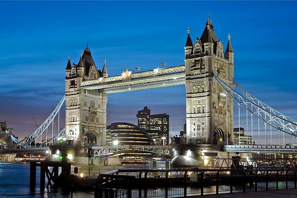 El Tower Bridge , El Tower Bridge de Londres en Inglaterra , Reino Unido