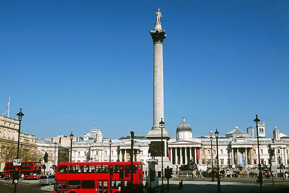 Trafalgar Square , Colonne de Nelson, Trafalgar Square , Royaume-Uni