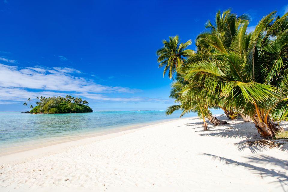Les paysages, Rarotonga, Cook, îles, pacifique, île, plage