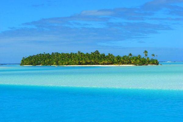 El lago de Aitutaki , La laguna de Aitukaki , Islas Cook