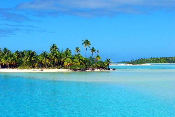 El lago de Aitutaki , Islas Cook