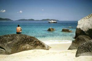 L'isola di Saba Rock , Isole Vergini britanniche