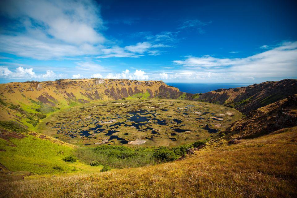 Rano Kau, El volcán Rano Kau, Los paisajes, Isla de Pascua