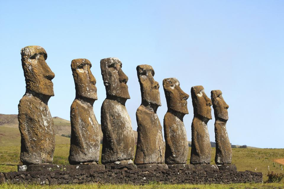 Le site d'Ahu Akivi , Ahu Akivi , Chili