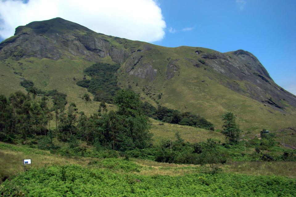El pico Anamudi , Vista de Top station , India