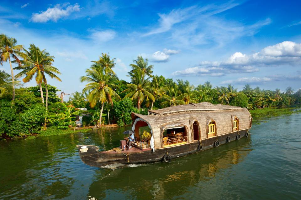 The backwaters , The Kerala Backwaters , India