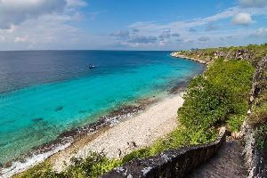 La isla de Bonaire , La playa de Bonaire, Antillas Neerlandesas , Antillas Neerlandesas