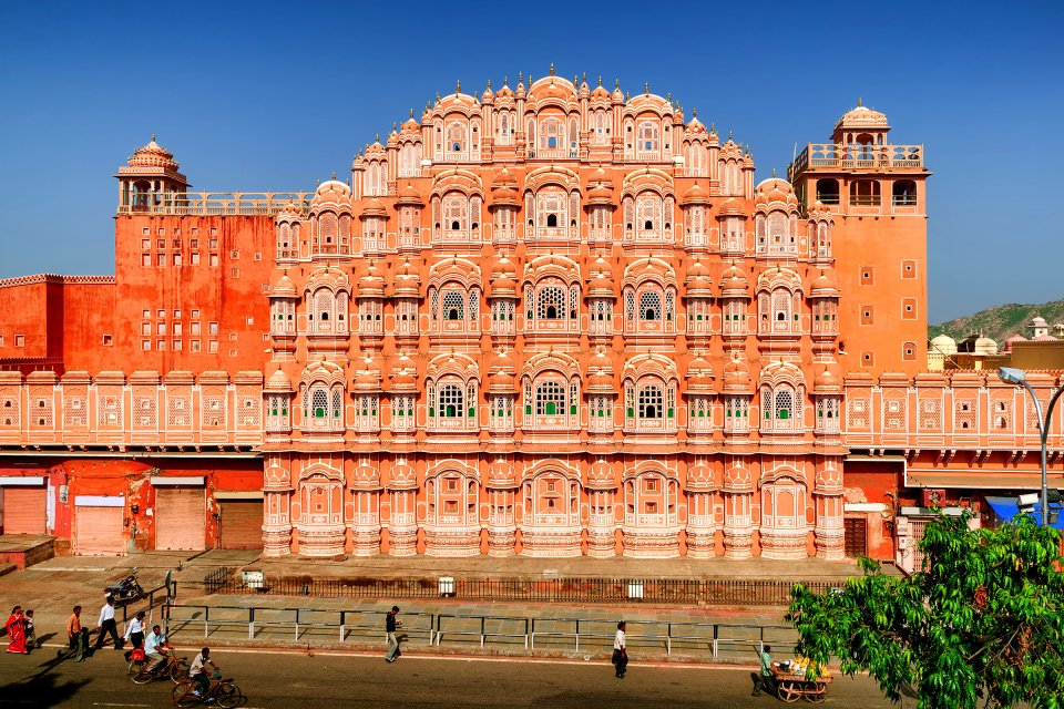 Les palais de Jaipur , Le palais Hawa Mahal, Jaipur, Inde , Inde