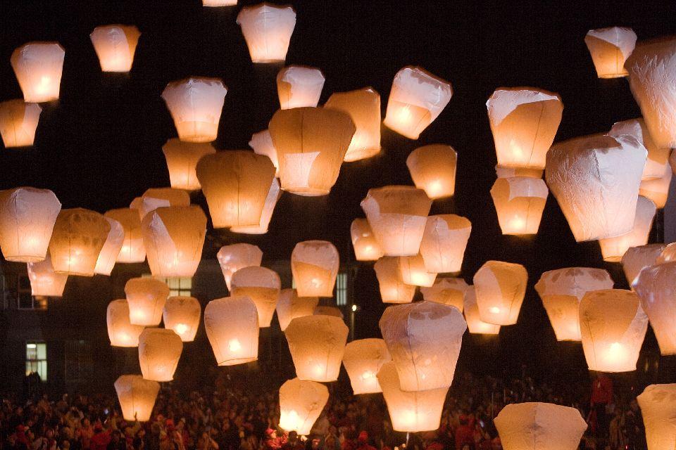 El festival de los Farolillos , Taipei Lantern Festival , Taiwán