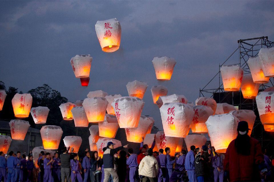El festival de los Farolillos , El «Pequeño año nuevo» , Taiwán