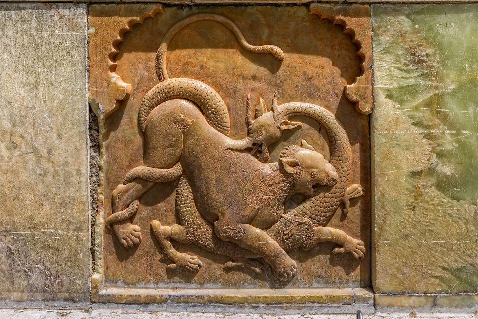 Le musée des fresques d'Ispahan , Les fresques d'Ispahan, Iran , Iran