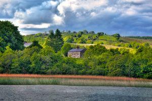 Las llanuras del río Shannon, Las praderas y los lagos del Centro, Los paisajes, Dublín, Irlanda
