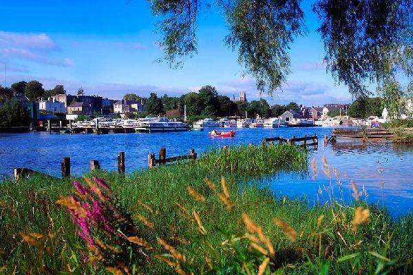 Die Prärien und die in der Landesmitte gelegenen Seen , Seenlandschaft, Irland , Irland
