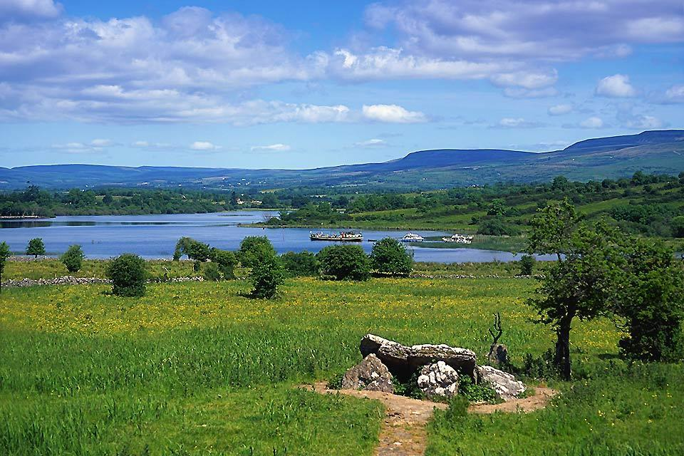 The prairies and Centre lakes. , Irish landscape , Ireland