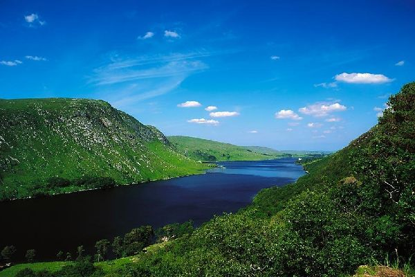 The Donegal mountains. , A valley in Donegal , Ireland