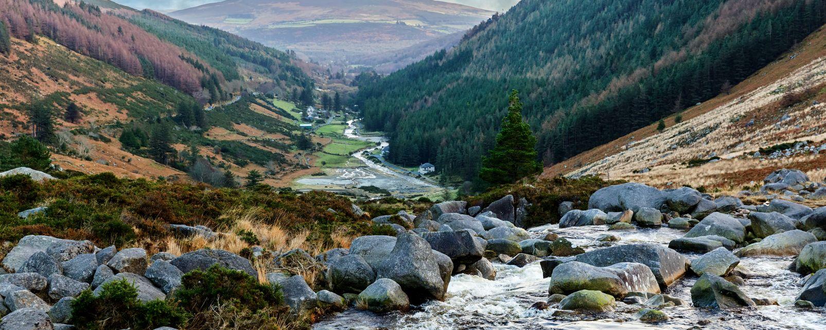 Les montagnes granitiques de Wicklow, Irlande, Les montagnes granitiques de Wicklow, Les paysages, Dublin, Irlande