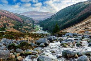 Las montañas graníticas de Wicklow, Irlanda, Las montañas graníticas de Wicklow, Los paisajes, Dublín, Irlanda