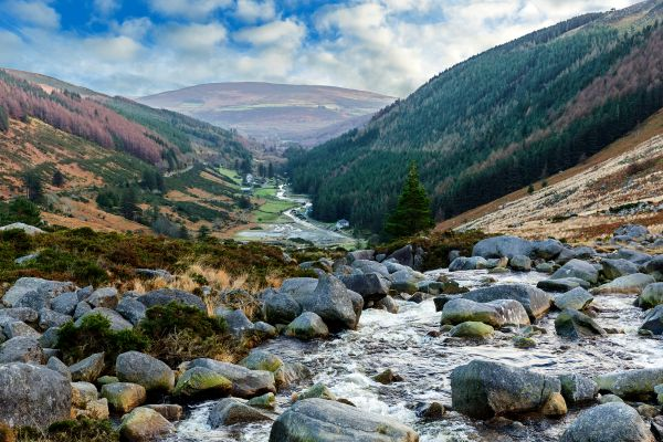 Das Granitgebirge von Wicklow, Irland, Das Granitgebirge von Wicklow, Die Landschaften, Dublin, Irland