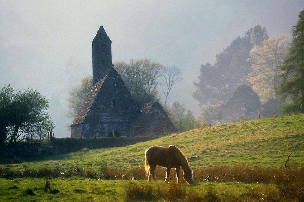 Das Granitgebirge von Wicklow , Typische Landschaft, Wicklow , Irland