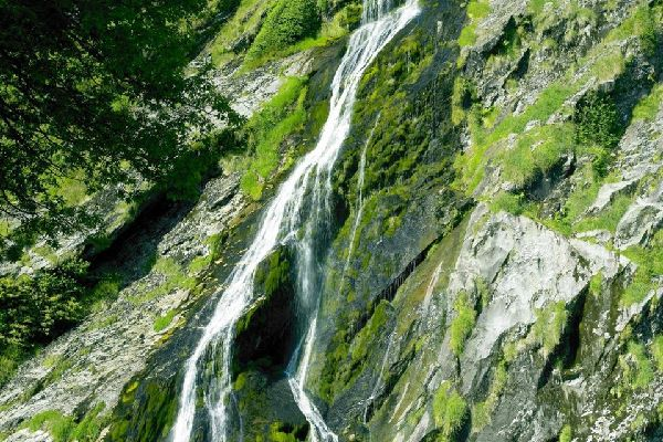 The granitic mountains of Wicklow , Powerscourt Waterfall, Ireland , Ireland