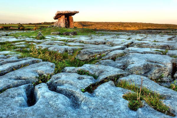 The limestone hills of Burren, The Burren limestone desert., Landscapes, Ireland