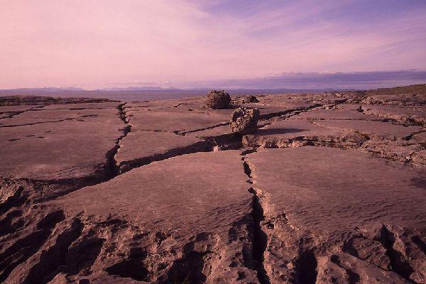 The Burren limestone desert. , The Burren limestone desert , Ireland